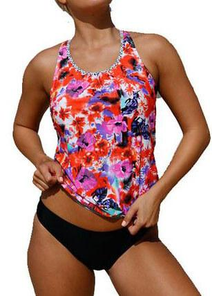 Floral Beach Ethnic Print Swimsuit - esshe