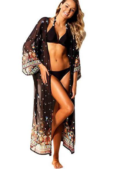 Chiffon Beach Cover Up - fashionyanclothes
