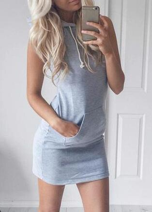 Summer Gray Fashion Dress - esshe