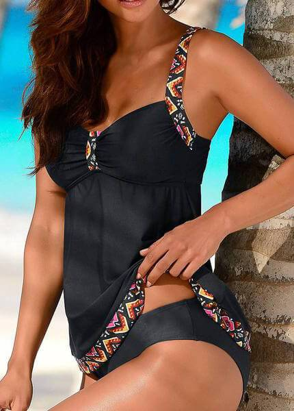 Floral Push Up Two Pieces  Swimdress - fashionyanclothes