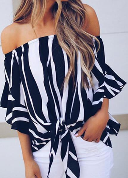 Sexy Off Shoulders Slash Neck Top