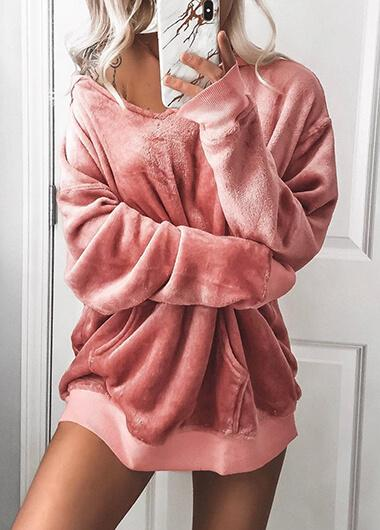 Hot Sale Pink Fleece Hoodie - fashionyanclothes
