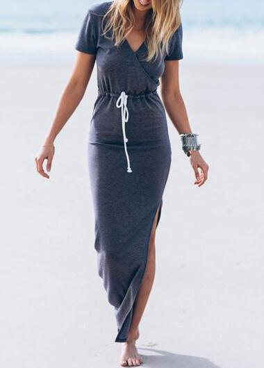 Long Sleeve Waisted Pencil Dress - fashionyanclothes