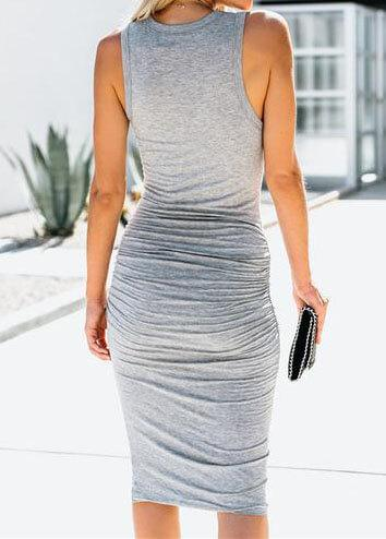 V Neck Draped Sexy Dress