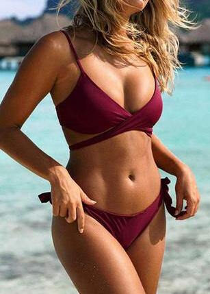 Sexy Cross Push Up Bikini - esshe