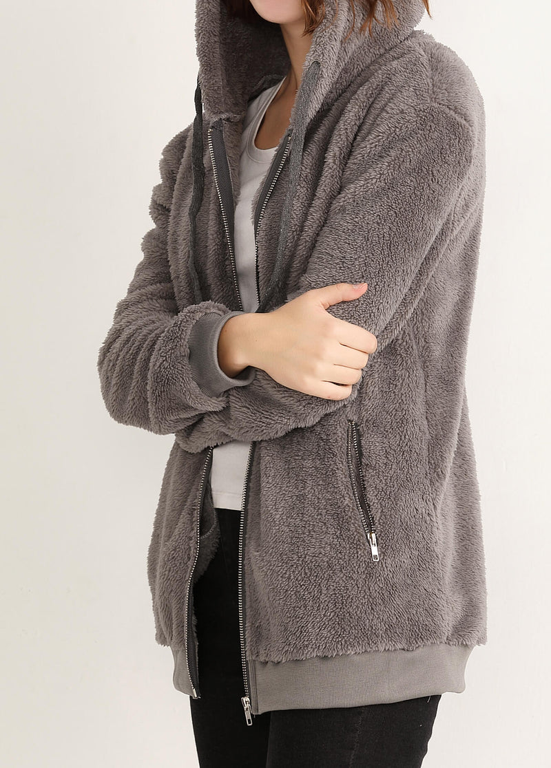 Plus Size Long Sleeved  Double-sided Coat