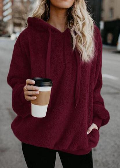 Long-sleeved Cap Solid Color Coat - fashionyanclothes