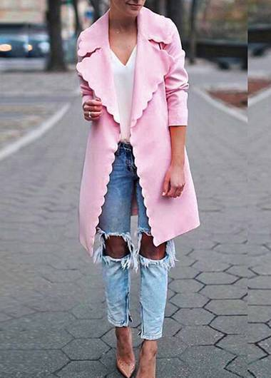Pink Long Sleeve  Cardigan