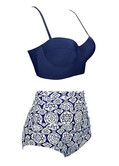 High Waisted Dot Print Bikini Set - fashionyanclothes