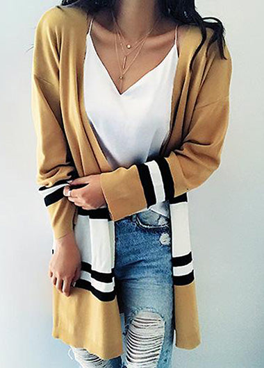 Street Fashion Striped Loose Cardigan