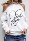 Girl Power Printed Long Sleeved Shirt - fashionyanclothes