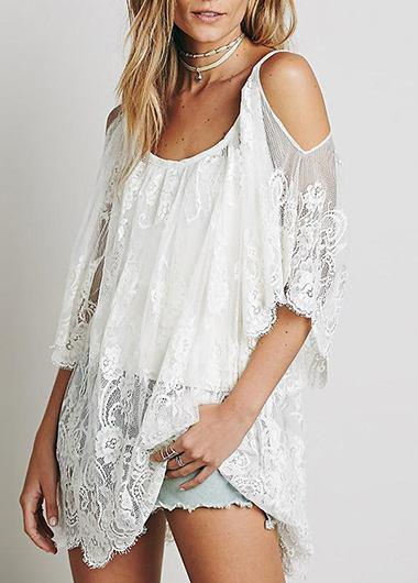 Strap  Floral Lace  Beach Wear