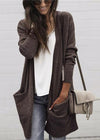Classic Solid Color Long Cardigan - fashionyanclothes