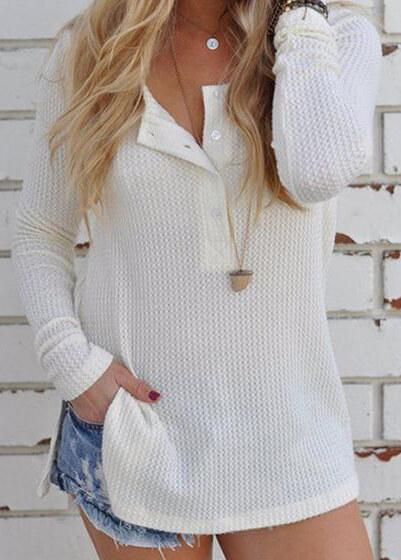 Knitted SLoose Solid Pullovers - fashionyanclothes