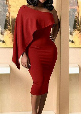 One Sleeve Bandage Bodycon Dress - fashionyanclothes