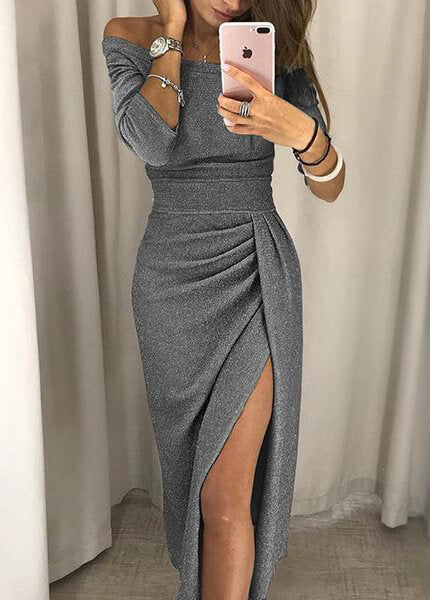Sexy Front Slit Dress