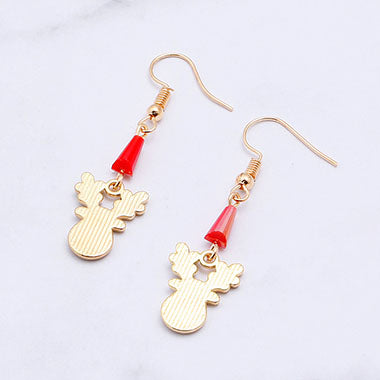 Christmas Elk Pendant Earrings for Lady - fashionyanclothes