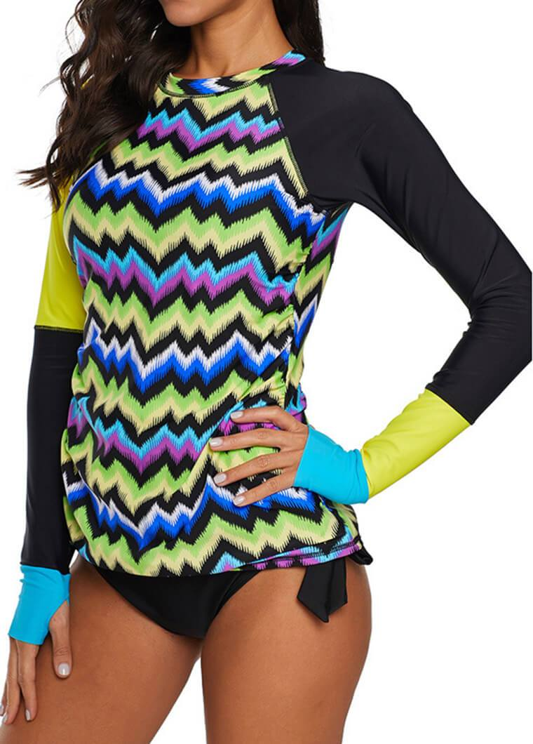 Yellow Patchwork   Two Pieces Wetsuit - fashionyanclothes