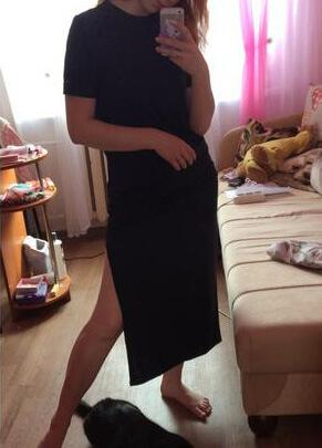 Plus Size Casual Black Maxi Dress - fashionyanclothes