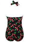 Halter Cherry Print One Piece - fashionyanclothes