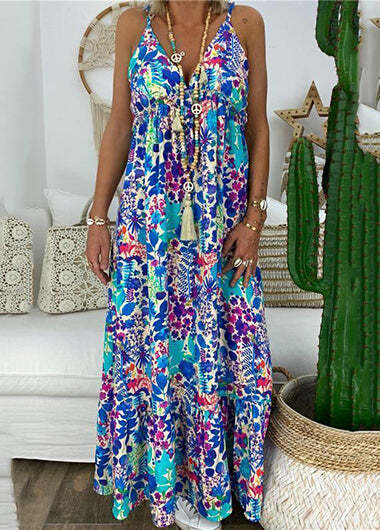 Bohemian Flower Printed  Dress - fashionyanclothes