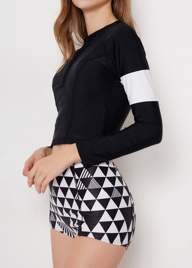 Geometrical Printed Two Pieces Wetsuit