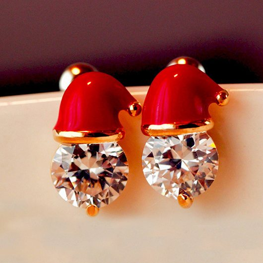 Santa's Bonnet. Christmas Earrings