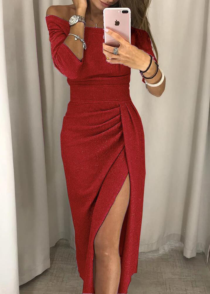 Sexy Front Slit Dress - fashionyanclothes