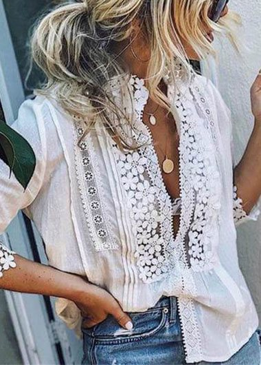 White  Lace Sleeveless Top - fashionyanclothes