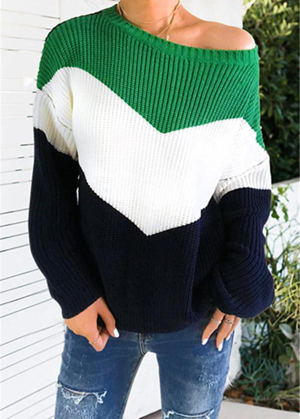 Patchwork Loose Sweater - fashionyanclothes