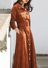 Three Quarter Sleeve High Waist Long Maxi Dress - fashionyanclothes