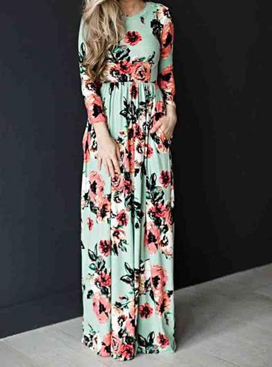 Bohemia Floral Print Maxi Dress - fashionyanclothes