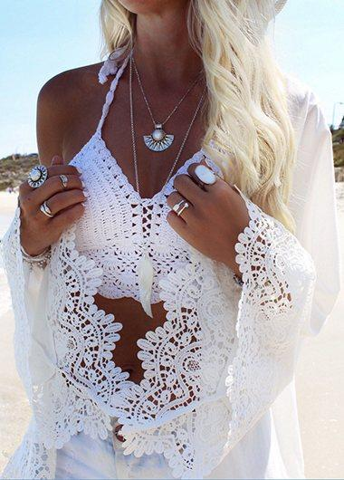 Long Sleeve Lace Cover Up - fashionyanclothes