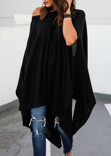 Plus Size Batwing Sleeve Blouse - fashionyanclothes
