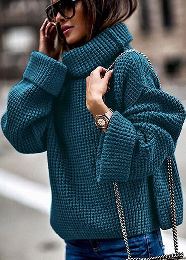 Turtleneck Solid Plus size Sweater