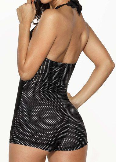 Halter Ruched One Piece Swimwear - fashionyanclothes