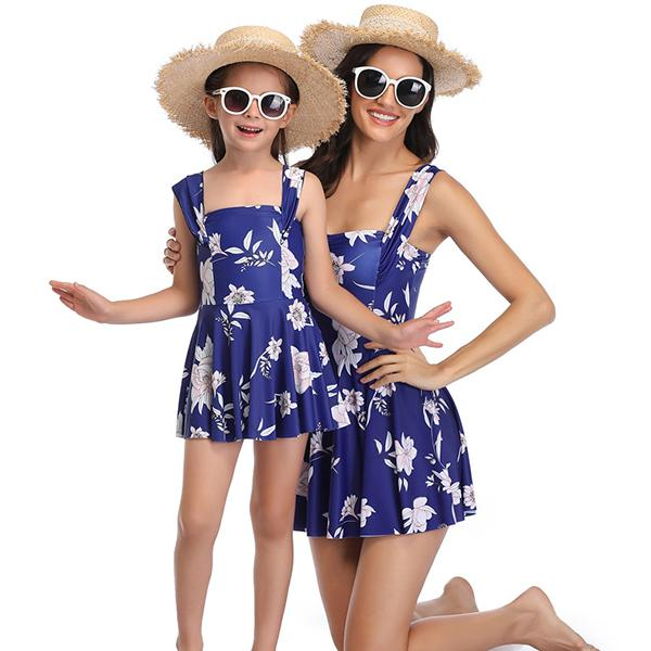 Mom & ME Flower Printed Swimdress - fashionyanclothes