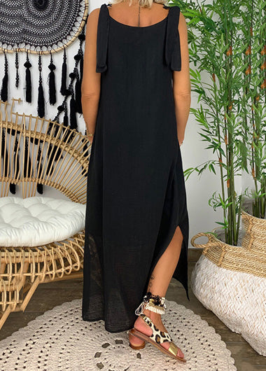 Cold Shoulder Lace Sleeveless Maxidress - fashionyanclothes