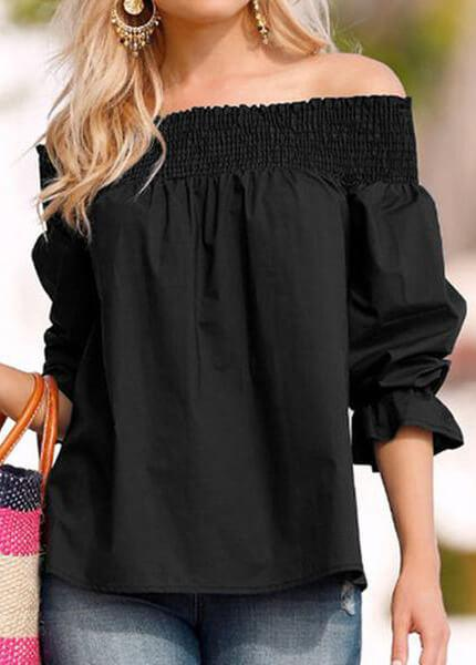 Slash Neck Off Shoulder Bow Tie Top
