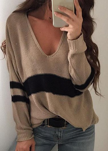 Fashionyan Striped Loose Sweater - fashionyanclothes