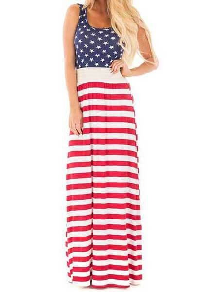 Stars and Stripes  USA Independence Day Dress - esshe