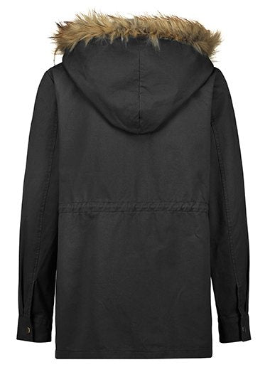 Long Sleeve Zipper Up Hooded Collar Coat - fashionyanclothes
