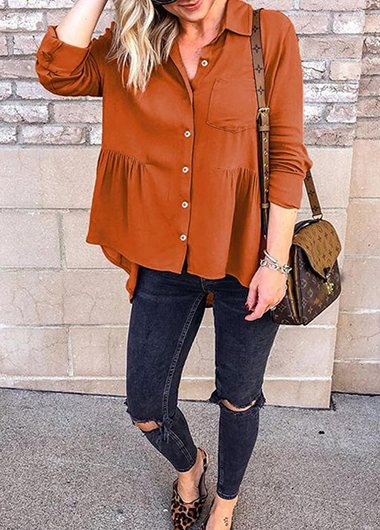 Loose Long Sleeves Blouses