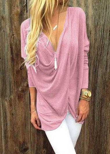 V-neck Twisted Blouse