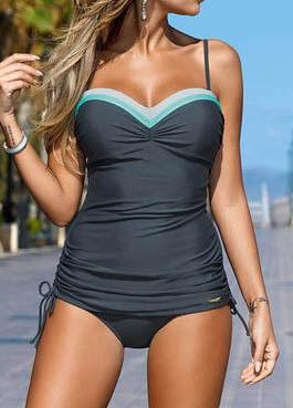 New Patchwork Push Up Swimsuit - esshe