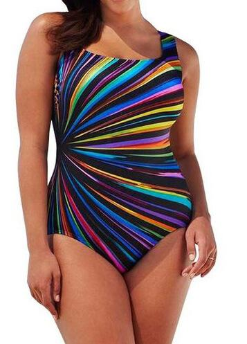 Plus Size Polka Dot One Piece Swimsuit - fashionyanclothes