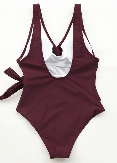 Elegant Dance Solid One Piece Swimwear - fashionyanclothes