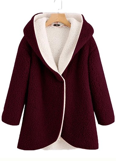 Plus Size Double-faced Velvet Coat