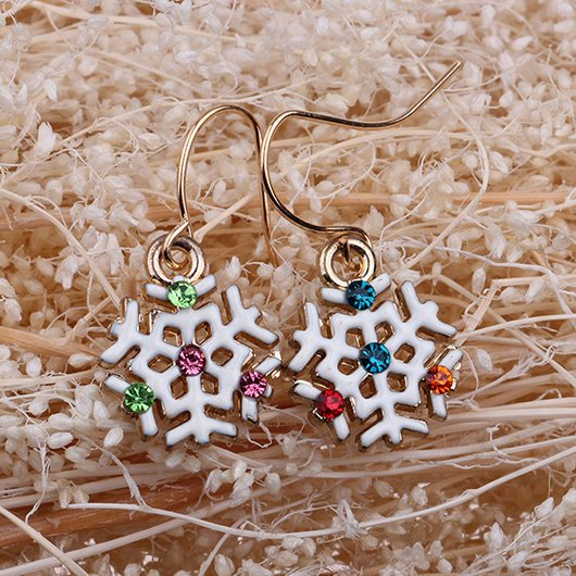 Christmas Snowflake Earrings - fashionyanclothes