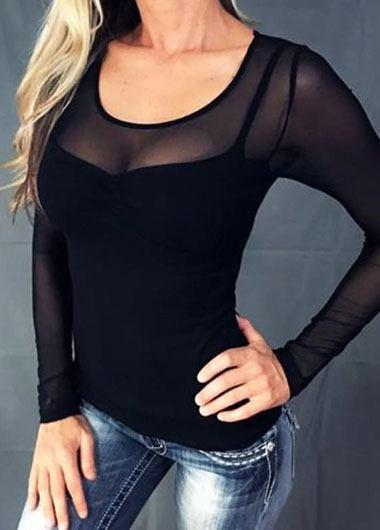Plus Size Perspective Mesh Top